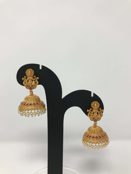 Temple Jhumki Earrings