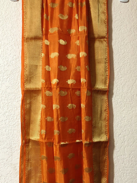 Orange Silk Dupatta