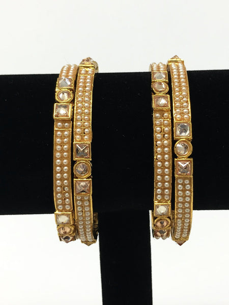 Indian Pearl Bangle Set