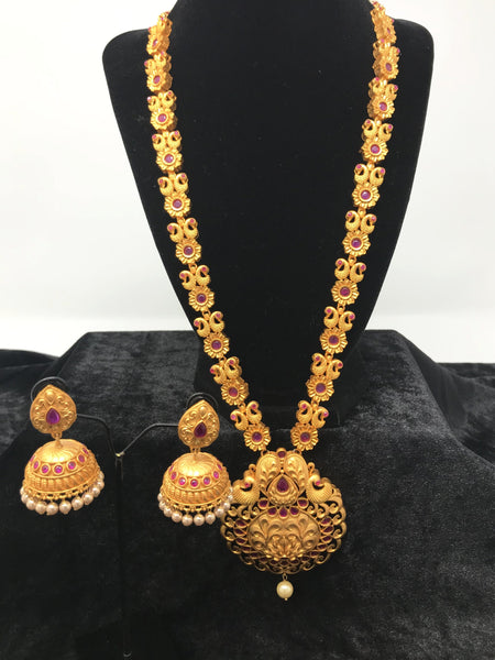 Long Temple Jewelry Set
