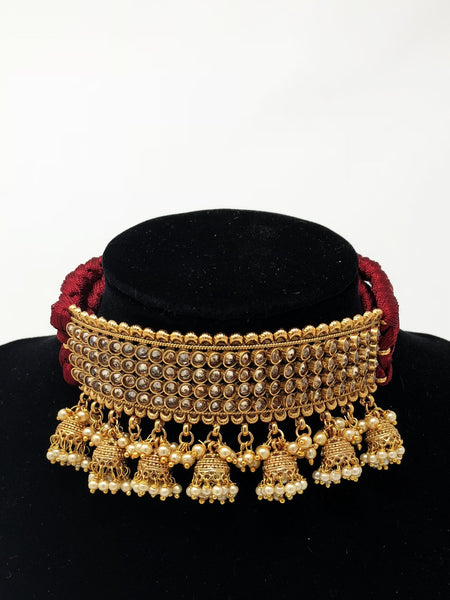 Jhumki Choker Necklace Set