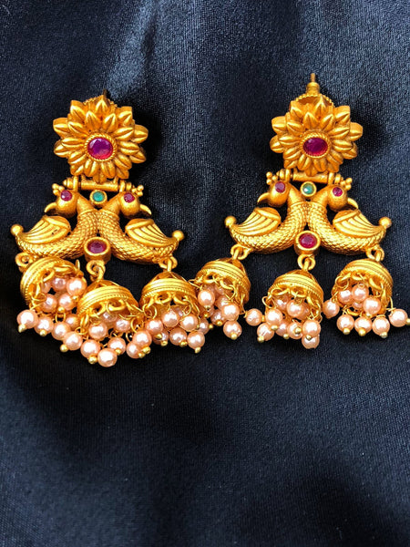 Temple Indian Earrings