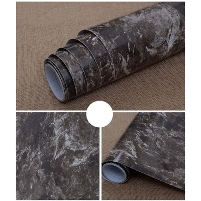 3m5m10m Marble Self Adhesive Wallpaper Peel Stick Removable