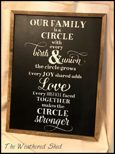 Our Family Is A Circle - The Weathered Shed