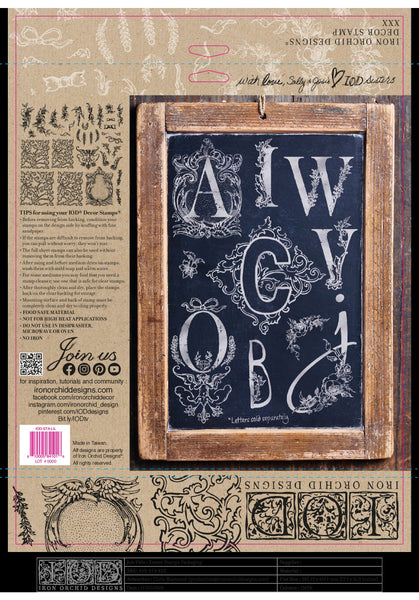ALPHABELLIES 12×12 IOD STAMP (PRE-ORDER ONLY)
