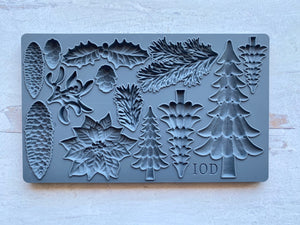 Boughs of Holly 6x10 Decor Moulds