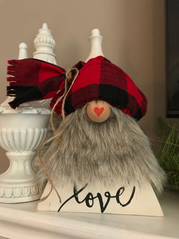 PRE-ORDER  Valentine Gnome - The Weathered Shed