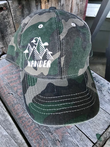 Wander - Inked Camo Ball Cap - The Weathered Shed