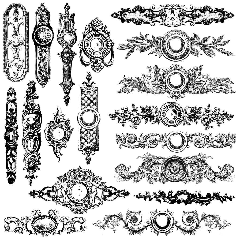 """Iron Orchid Designs Decor Clear Stamps 12/""""x12/""""-distressed Edges"""