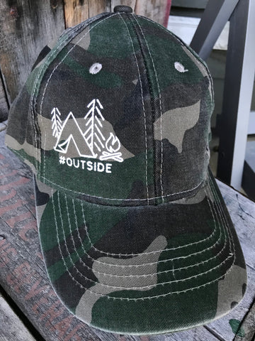#outside - Inked Camo Ball Cap - The Weathered Shed