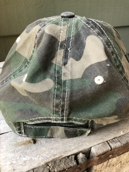 Let's Get Lost - Inked Camo Ball Cap - The Weathered Shed