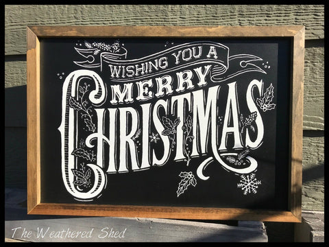 Wishing You A Merry Christmas - The Weathered Shed