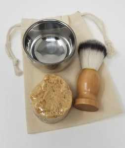 Shave Kit with Drawstring Bag