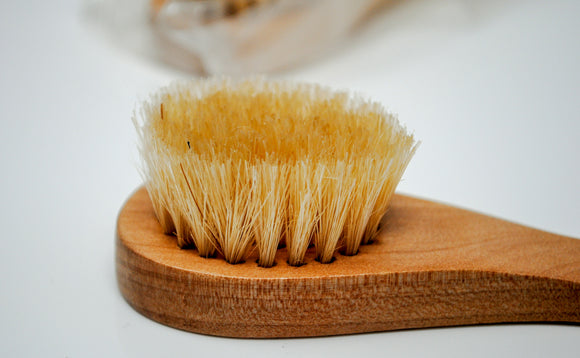Wooden Facial Brush with Natural Bristles