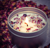 4 oz Essential Oil  Soy Candle With Botanical's  (3 Scents available)