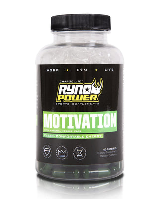 MOTIVATION Pre-Workout Focus Energy Supplement | 30 Servings (60 Capsules)
