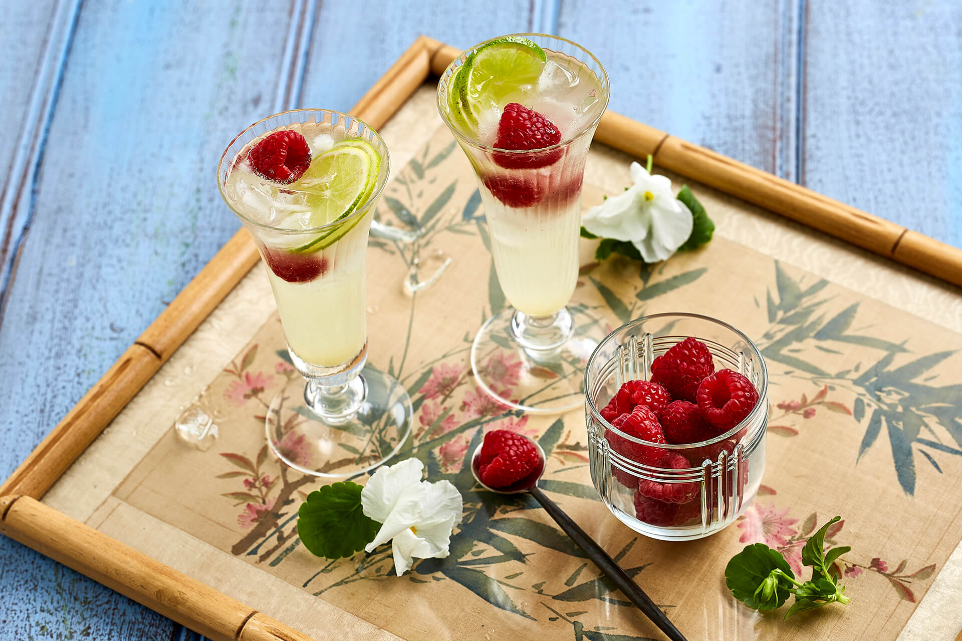 Ginger Blossom and Raspberry Fizz Cocktail