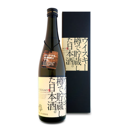 FUKUGAO SAKE STORED IN WHISKEY BARREL 720ml