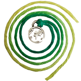 Seven Wishes Bracelet Earth (World Charm) with Grass String