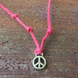 Seven Wishes Bracelet Peace (Peace Charm) with Ultra Violet String