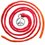 Seven Wishes® Bracelet Peace (Peace Charm) with Flame Red String