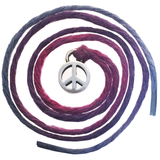Seven Wishes® Bracelet Peace (Peace Charm) with Ultra Violet String