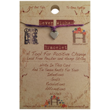 Seven Wishes Bracelet Love (Heart Charm) with Ultra Violet String