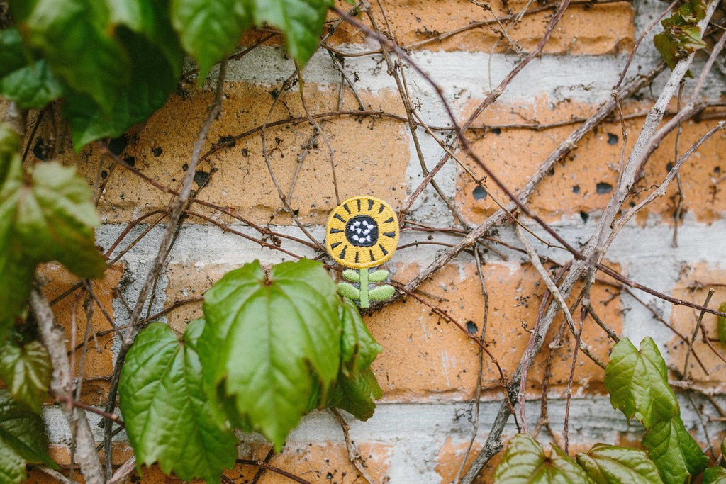 Flower Series: Sunflower Iron On Patch