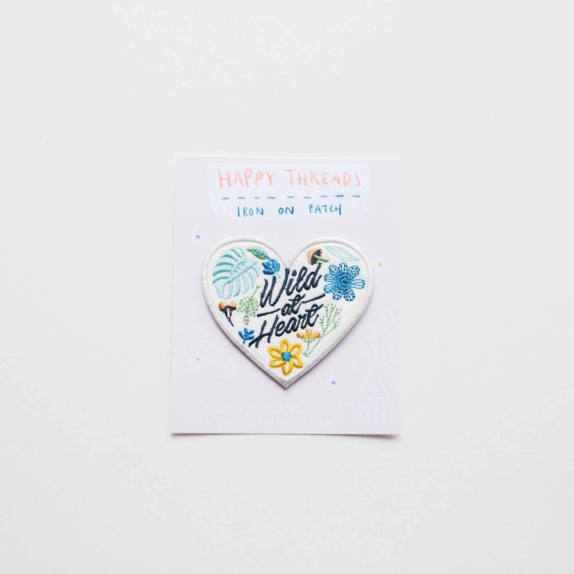 Flower Series: Wild At Heart Iron On Patch