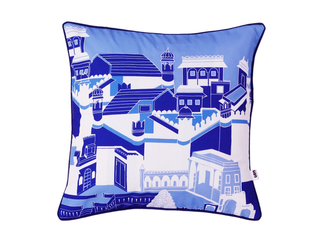 Mughal Architecture Cushion Cover
