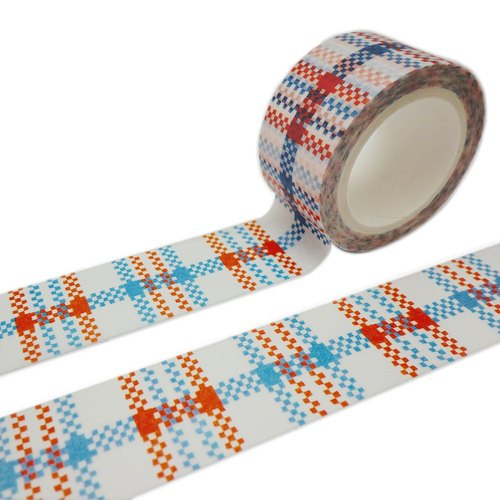Red White Blue Wire Washi Tape