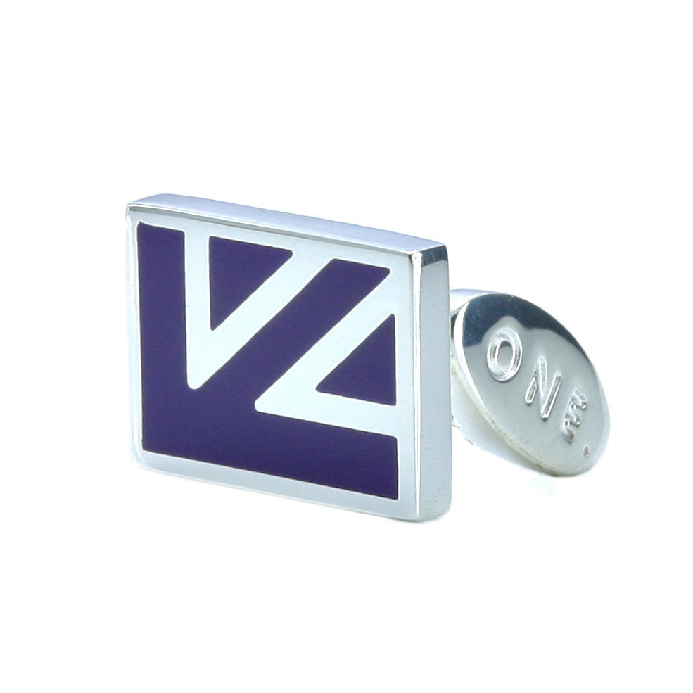Quarter Jack Cufflinks - Purple