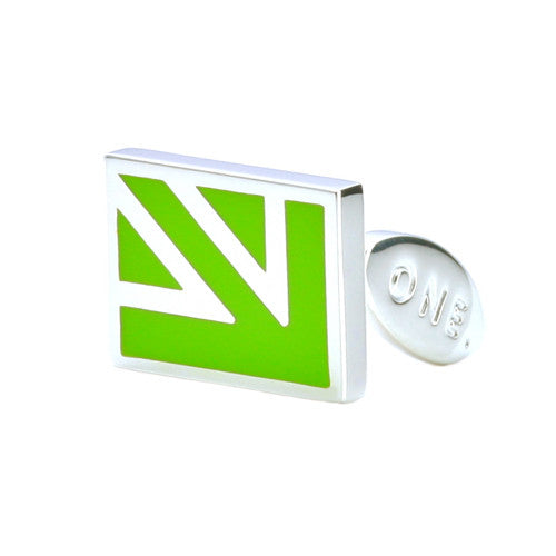 Quarter Jack Cufflinks - Lime