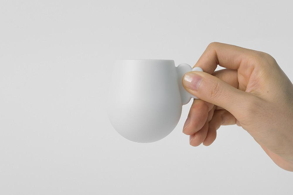 Cloud Espresso Cup & Saucer - White