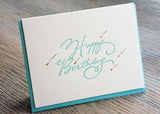 Shooting Stars - Turquoise Birthday Card