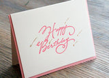 Shooting Stars - Bubble Gum Birthday Card