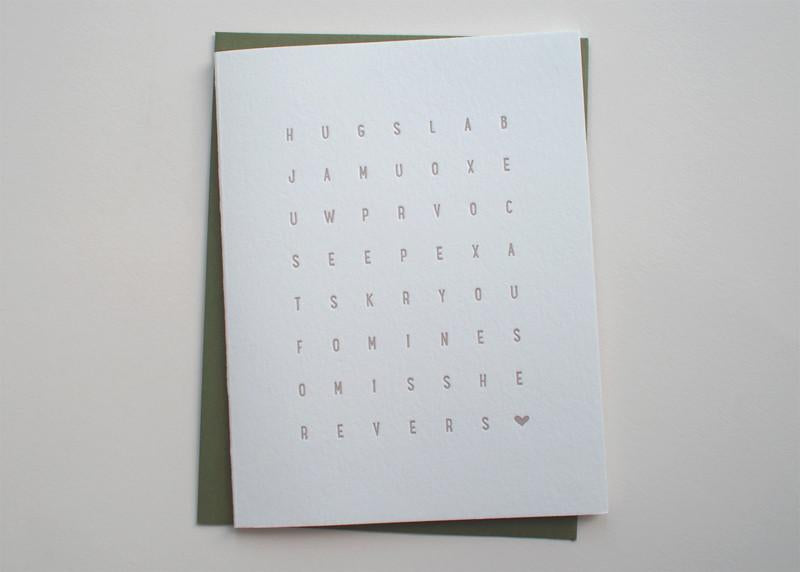 Love Word Puzzle Card
