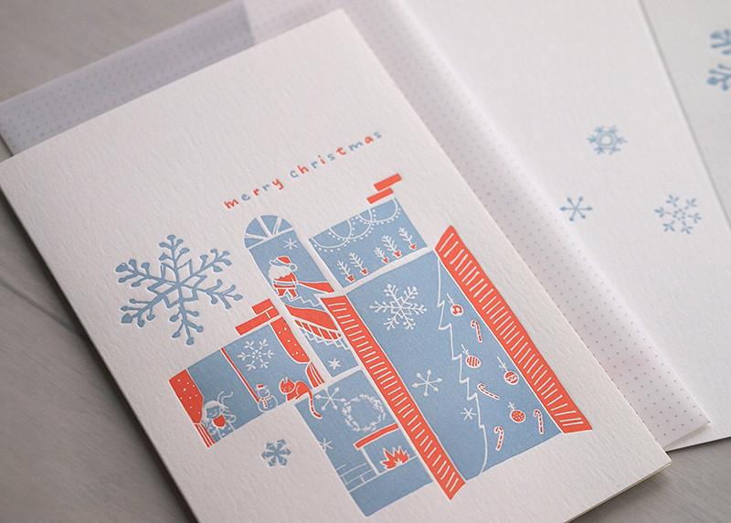 A Snowy Night Christmas Card