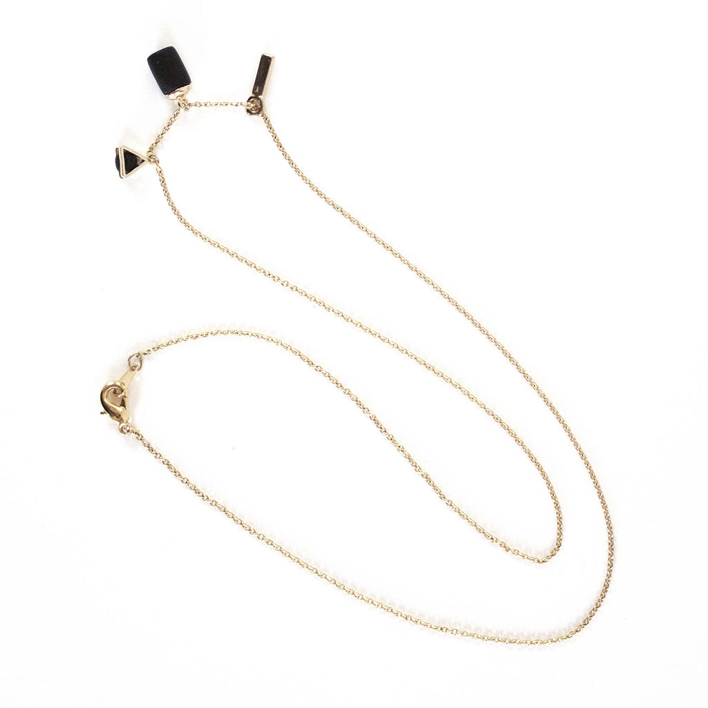 Gold Necklace - Triangle Weight Bar