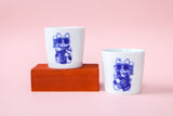 Set of 2 Gangster Kitties Porcelain Cups (UK Exclusive)