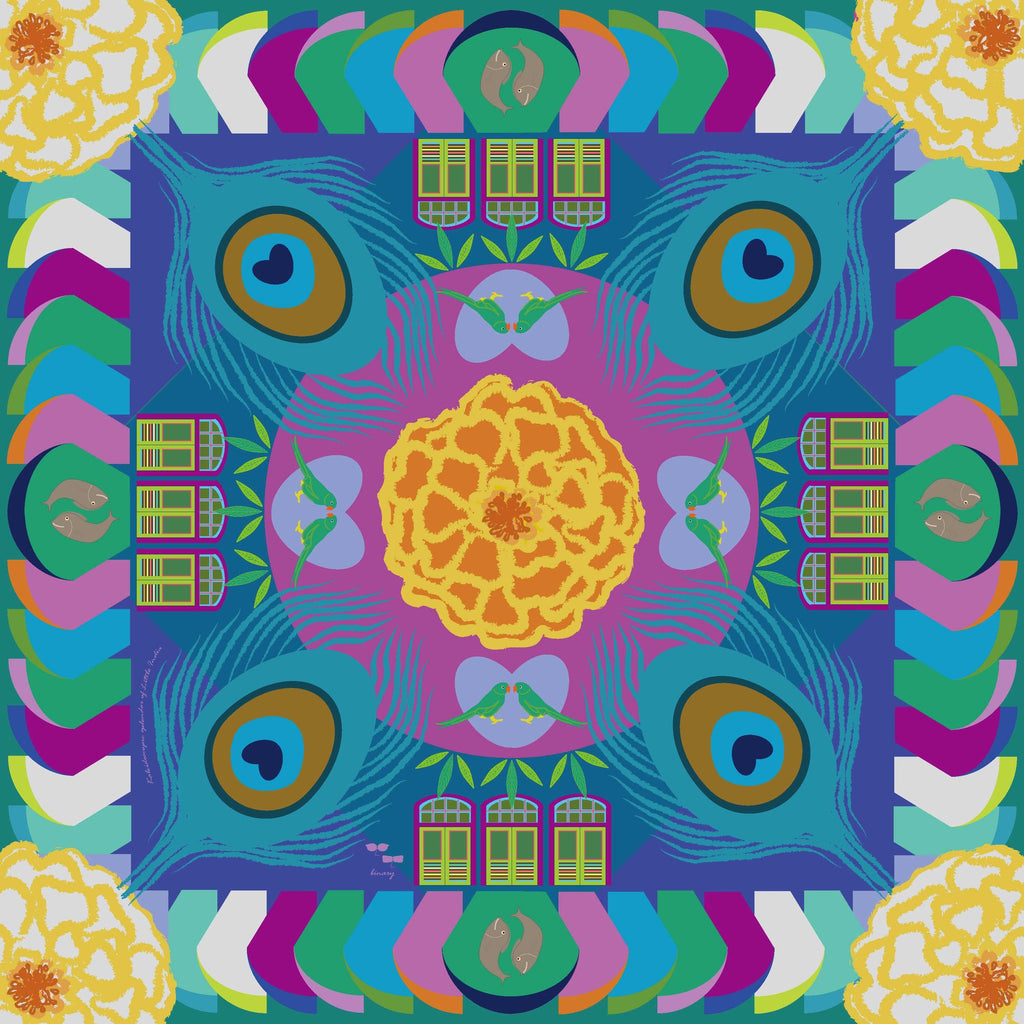 Kaleidoscopic Splendors of Little India Scarf