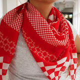 Merah and Puteh Scarf