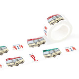 Minibus Multi Colour Washi Tape