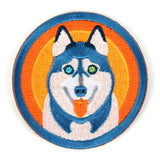 Husky Iron On Patch