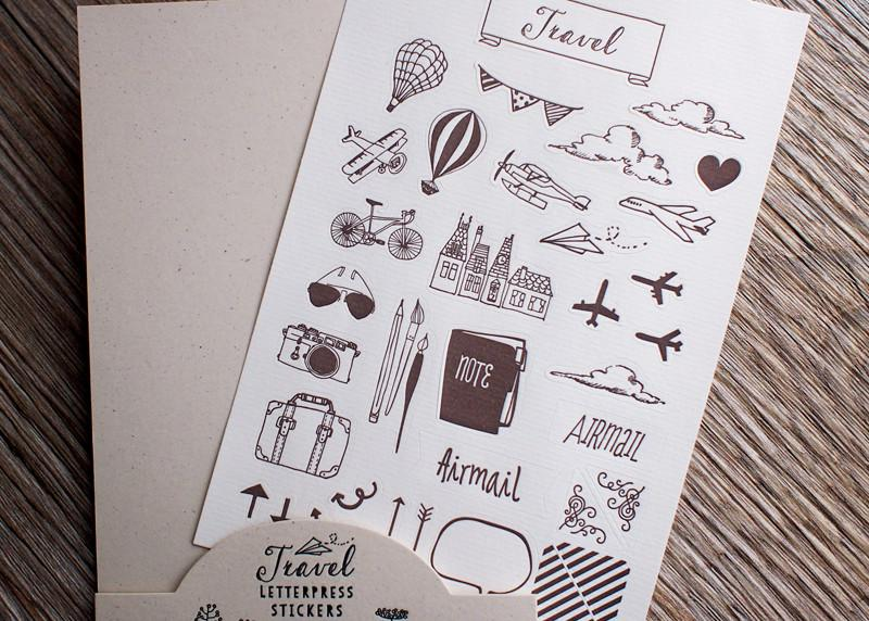 Letterpress Travel Sticker - Travel