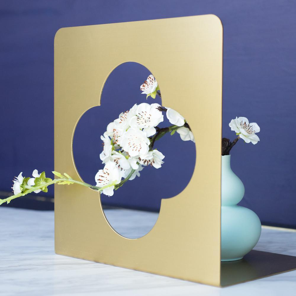 Brass Plum Window Bookend