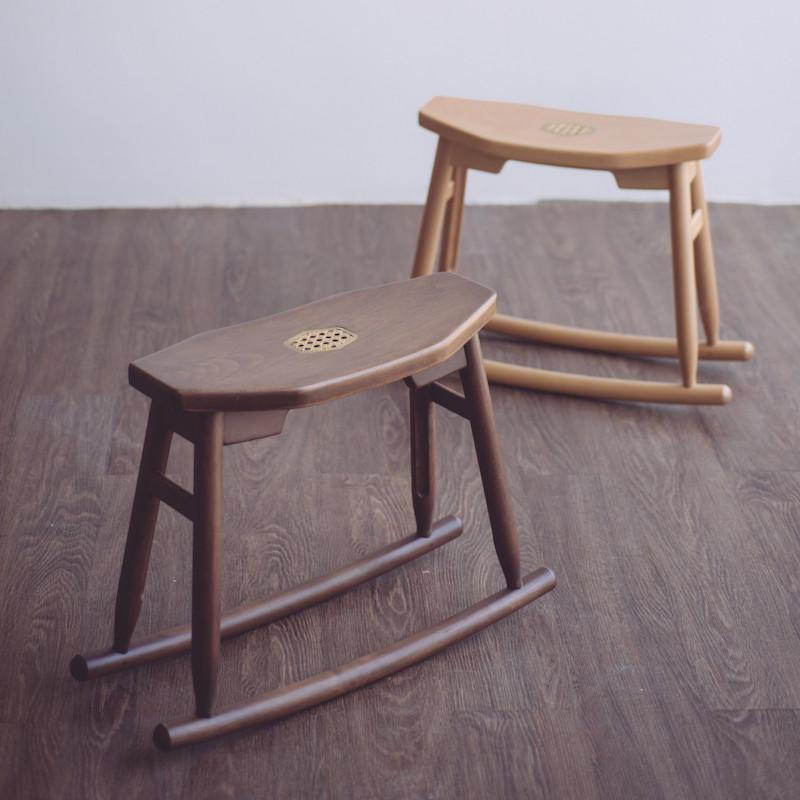 JIA JU Rocking Stool Walnut