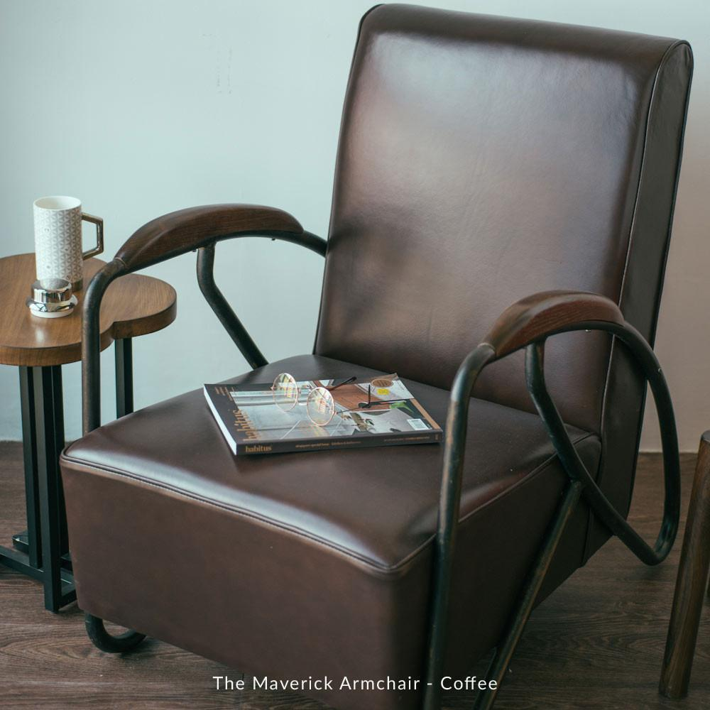 The Maverick Armchair - Mustard