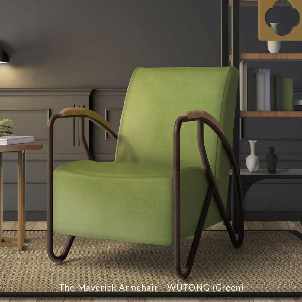 The Maverick Armchair - Wutong Green
