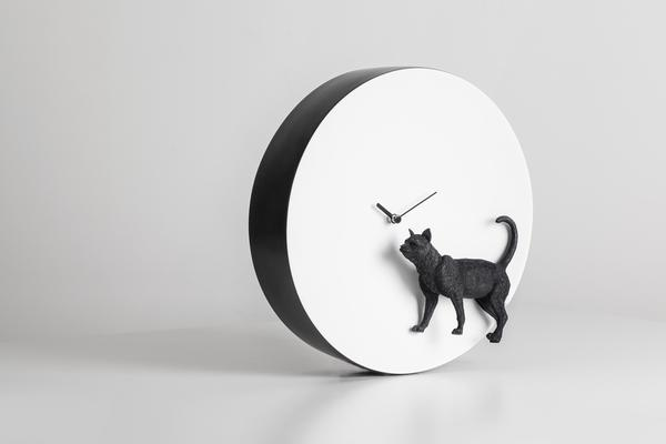 Moon Clock - Cat